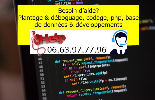 dépanage site web